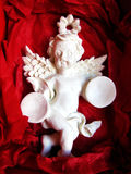 Porcelain angels , Christmas . Royalty Free Stock Photos