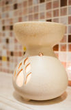 Porcelain aroma theraphy oil burner Royalty Free Stock Photo