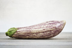 Porcelain aubergine on white Royalty Free Stock Photography