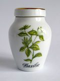 Porcelain basil Jar Royalty Free Stock Images