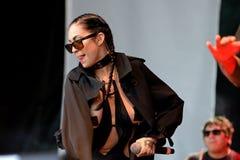 Porcelain Black (American industrial pop singer songwriter, rapper, and model) at Primavera Pop Royalty Free Stock Image