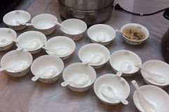 Porcelain bowl Stock Images