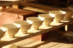 Porcelain bowl in factory,Jingdezhen China Royalty Free Stock Image