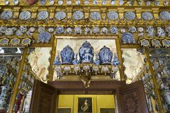 Porcelain Cabinet in Charlottenburg Palace Royalty Free Stock Images