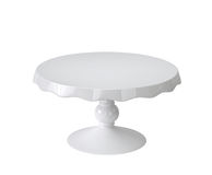 Porcelain cake stand on white Royalty Free Stock Photos