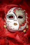 Porcelain carnival mask Stock Photo