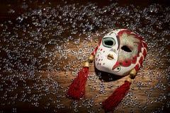 Porcelain carnival mask Stock Photos