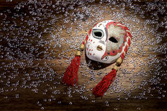 Porcelain carnival mask Stock Images