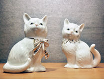 Porcelain cats. A view of porcelain cats Stock Photography