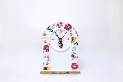 Porcelain clock Royalty Free Stock Photos
