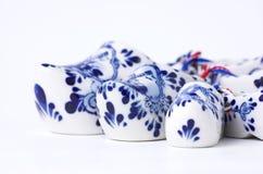 Porcelain clogs Stock Photo