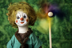Porcelain clown doll Royalty Free Stock Photos