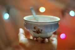 A porcelain cup Royalty Free Stock Images