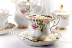 Porcelain cup of coffee Royalty Free Stock Photo