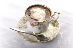 Porcelain cup of coffee Stock Image