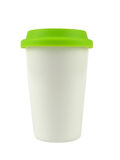 Porcelain Cup with a Lid Royalty Free Stock Images