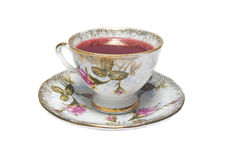 Porcelain cup of red tea Stock Image