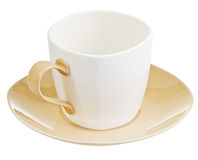 Porcelain cup with saucer Stock Images