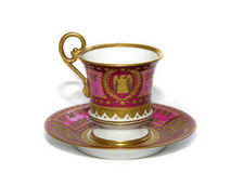 Porcelain cup of tea. Old cup of tea - antique Stock Image