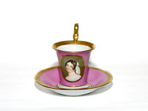 Porcelain cup of tea. Old cup of tea - antique stock photography