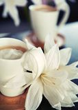 Porcelain cups of coffee Royalty Free Stock Image