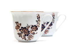 Porcelain cups Stock Photos
