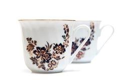 Porcelain cups Stock Photos