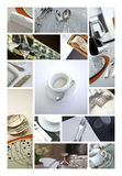 Porcelain and cutlery Stock Images