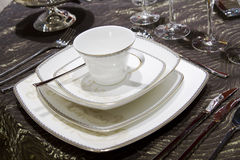 Porcelain dinner set Royalty Free Stock Image