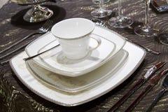 Porcelain dinner set Royalty Free Stock Image
