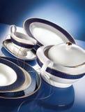 Porcelain dinner set royalty free stock photography