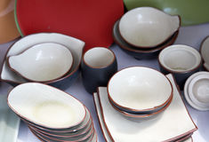 Porcelain dinnerware Stock Image