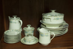 Porcelain dinnerware Royalty Free Stock Photography