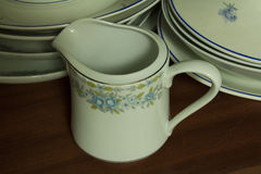 Porcelain dinnerware Royalty Free Stock Image