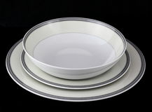 Porcelain dinnerware set Royalty Free Stock Photos