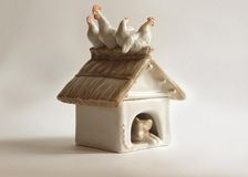 Porcelain Doghouse Box Stock Photography