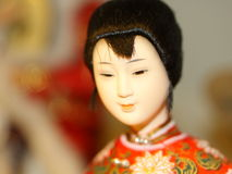 Porcelain Doll. This is a close up shot of a small Chinese porcelain doll Royalty Free Stock Photos