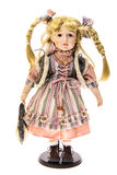 Porcelain Doll. Girl. Isolated Stock Images