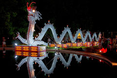 Porcelain Dragon at Night Royalty Free Stock Photography