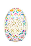Porcelain easter egg isolated on white Royalty Free Stock Photography
