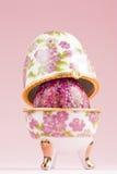 Porcelain egg decoration royalty free stock images