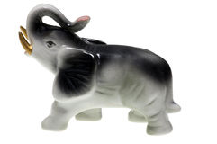 Porcelain elephant Stock Photos