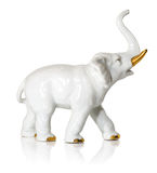 Porcelain elephant. German porcelain elephant made in the sixties Stock Images