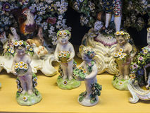 Porcelain exhibit in the Museum in the City Museum in Lancaster England in the Centre of the City Stock Photography