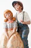 Porcelain figures Stock Images