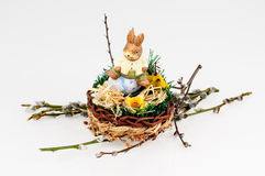 Porcelain hare Stock Images