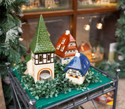 Porcelain houses, typical souvenirs Rothenburg ob der Tauber Royalty Free Stock Photography