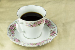 Porcelain and Instant Coffee Floral Royalty Free Stock Photos
