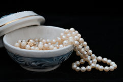 Porcelain Jewelry Box Stock Photo