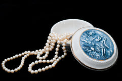 Porcelain Jewelry Box Stock Photography